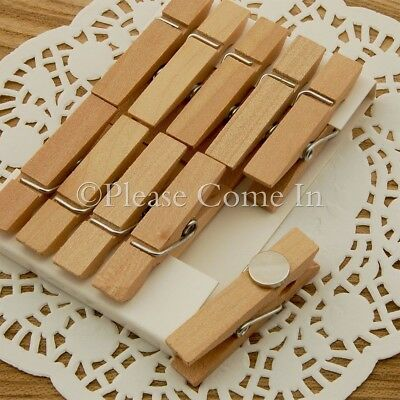 20 Mini Wooden Pegs/Clothespins Fridge Magnet