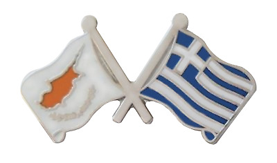 Cyprus & Greece Greek Cypriot Flag Friendship Pin Badge - T4088