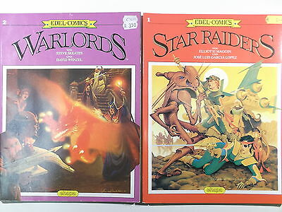 EDEL-COMICS #  1 + 2 STAR RAIDERS WARLORDS ( Ehapa Verlag, Softcover ) Z 2