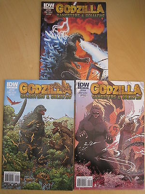 GODZILLA, GANGSTERS & GOLIATHS : #s 1,2,3 COMPLETE. IDW. 2011