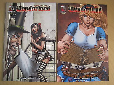 GRIMM FAIRY TALES PRESENTS : WONDERLAND. 2011 ANNUAL x 2. BOTH SEXY COVERS