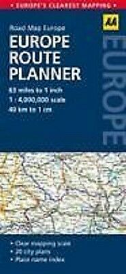 Europe 2014 Route Planner Aa Road Map 9780749575380