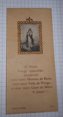 Santino Holy Card Madonna in Gloria Coppin-Goisse  (Afe99)