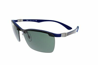 RAY-BAN Dark carbon on rubber blue/green RB8312 124/71 60