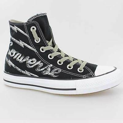 1b48b6520704ed Converse All Star Chucks Branded Print Hi Black Schwarz 142395C Schuhe