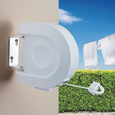 12m Clothes Line For Drying Airing Clothing Retractable Outdoor Washing Line