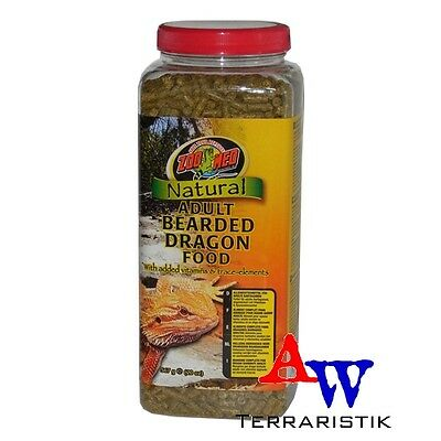 ZooMed Natural Bearded Dragon Food 567g - adult - Bartagamenfutter MHD 07/18
