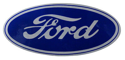 """Ford Oval Decal - 17"""" Blue on White"""