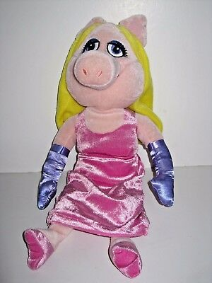"""The Muppets   18""""  Soft Toy Miss Piggy in Pink Dress"""