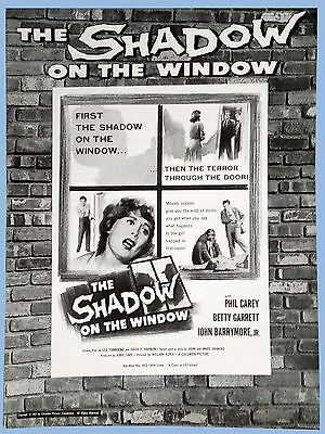 Vtg - The Shadow On The Window - Orig Columbia Pictures Pressbook - 1957 - Carey