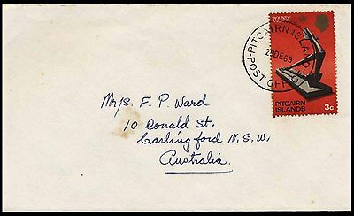 1969 Pitcairn Island Australia Bounty Anchor Commercial Cover S49