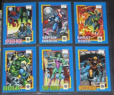 1991 Impel Marvel Trading Card Treats Promo Set of 6 Cards NM/M Spider-Man