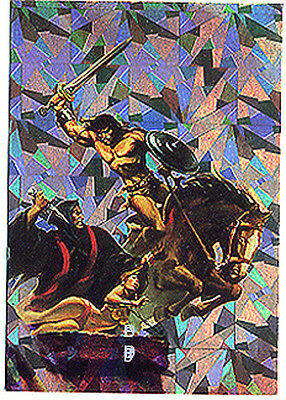 CONAN All-Chromium Series 1 - Prism Chase Card P2 - The Iron Lions of Kharamun