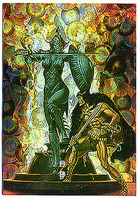 CONAN All-Chromium Series 2 - Prism Chase Card P3 - Savage Sword Cover #90