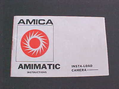Amica Animatic Insta-Load Camera Instructions Booklet