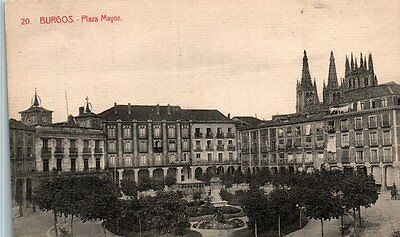 Castilla L Burgos Pza Mayor Postal Antigua
