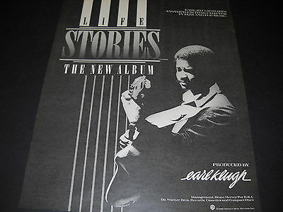 EARL KLUGH tells LIFE STORIES 1986 Promo Poster Ad mint condition
