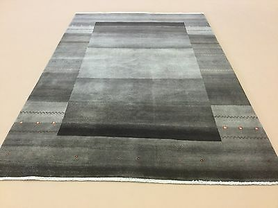 6 X 9 Shades Of Gray Brown Modern Gabbeh Persian Oriental Area Rug Hand Knotted