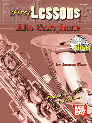 First Lessons Beginner Alto Saxophone Book + Cd Set New