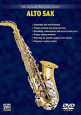 Learn To Play Alto Sax - Saxophone - Beginner *new* Dvd