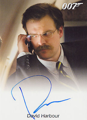 James Bond 2016 Classics Autograph Trading Card Full Bleed David Harbour