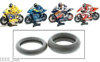 New Scalextric W8890 Front & Rear Tyre Pack Moto GP Motorbike Motorcycle Bike
