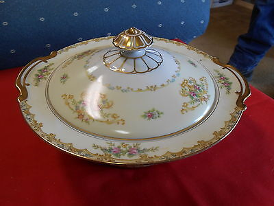 """Magnificent Vintage 1933 NORITAKE """"Acacia"""" COVERED CASSEROLE  VEGETABLE DISH"""