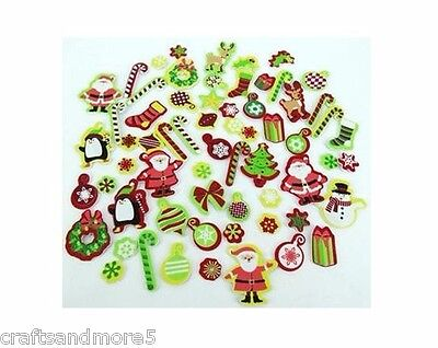 20 x Foam Christmas Stickers ~ Various Sizes ~ Great For Scrapbooking