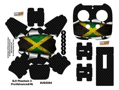 Jamaican Flag DJI Phantom 3 Professional Advanced Decal Skin Wrap Sticker