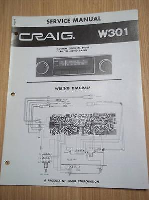 Outstanding Craig Service Manual W301 Car Radio Original Repair Manual 7 48 Wiring Cloud Hisonuggs Outletorg