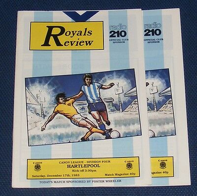 Reading Home Programmes 1983-1984