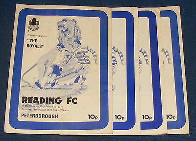 Reading Home Programmes 1976-1977