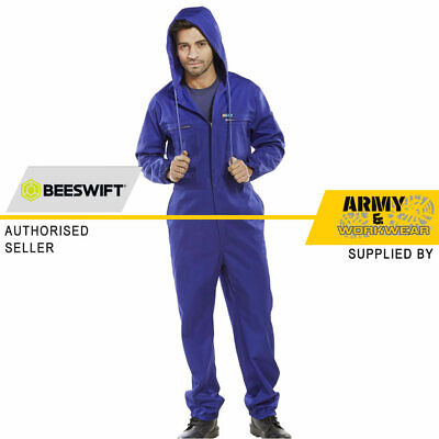 Mens Hooded Mens Coverall Overalls Workwear Boilersuit Work Overalls Zip Front