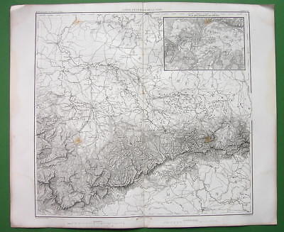 1859 ANTIQUE MAP - Germany Saxony Dresden & Environs