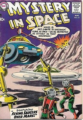 Mystery In Space Comic Book #45, DC Comics 1958 VERY GOOD+