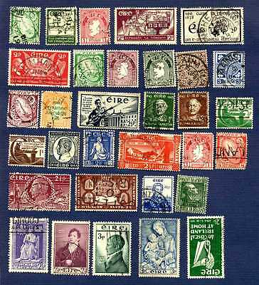 IRELAND-#65/169-MISCELLANEOUS GROUP of 32-USED