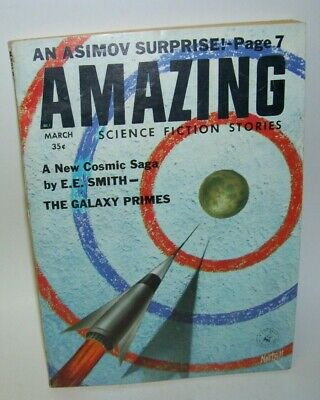Amazing Science Fiction Asimov March 1959 Pulp Paperback