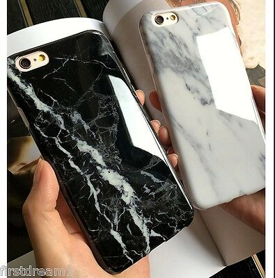 Black Marble Stone Texture Visual Soft Case Cover For iPhone 7 7Plus 6 6s Plus
