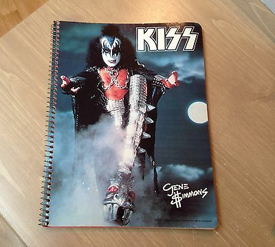 KISS ** GENE SIMMONS SOLO NOTEBOOK ** AUCOIN Management 1978' w/Order form