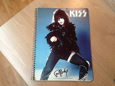 KISS ** PAUL STANLEY SOLO NOTEBOOK ** AUCOIN Management 1978'