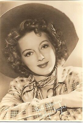 EVELYN KEYES ACTRESS COWGIRL BLACK & WHITE PHOTOGRAPH-FAN CLUB TYPE-4 3/4 x6 3/4