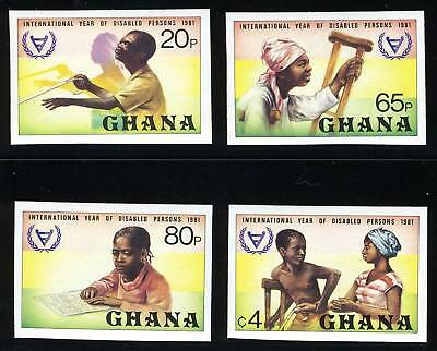 Ghana Scott#777-80 Disabled Persons Year Imperf Set Mnh