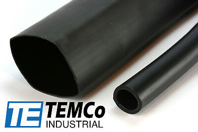 "TEMCo 1.5"" Marine Heat Shrink Tube 3:1 Adhesive Glue Lined 4 ft BLACK"
