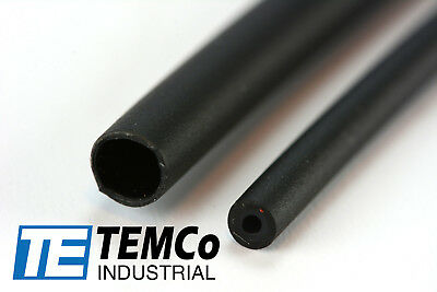 "TEMCo 1/8"" Marine Heat Shrink Tube 3:1 Adhesive Glue Lined 4 ft BLACK"
