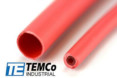 "TEMCo 3/16"" Marine Heat Shrink Tube 3:1 Adhesive Glue Lined 4 ft RED"