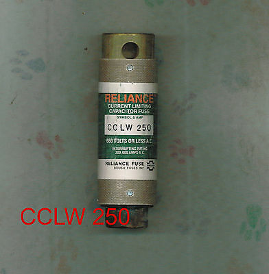 New Reliance Cclw 250 Capacitor Fuse  660 Volts 250 Amp