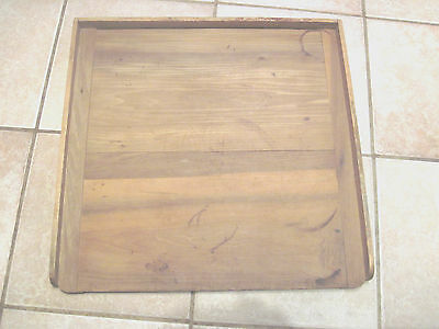 Vintage  bread board,  Grungy  primitive look. size 22x22 inch2 sided