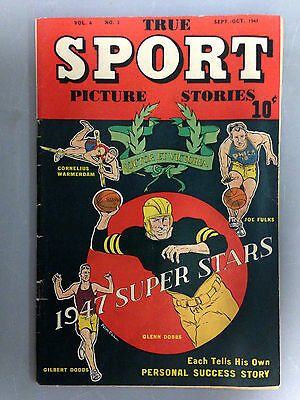 True Sport Picture Stories (1947) Vol. 4 #3  Glenn Dobbs Gilbert Dodds Joe Fulks