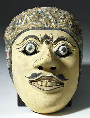 ARTEMIS GALLERY Indonesian Topeng Mask - Meticulously Carved & Painted