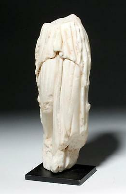ARTEMIS GALLERY Stunning Greek Hellenistic Marble Fragment of a Muse